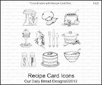 Our Daily Bread designs stamps, Recipe Card Icons