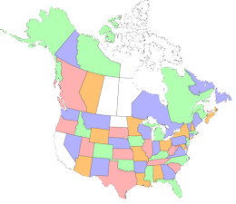 States & Provinces I've Visited