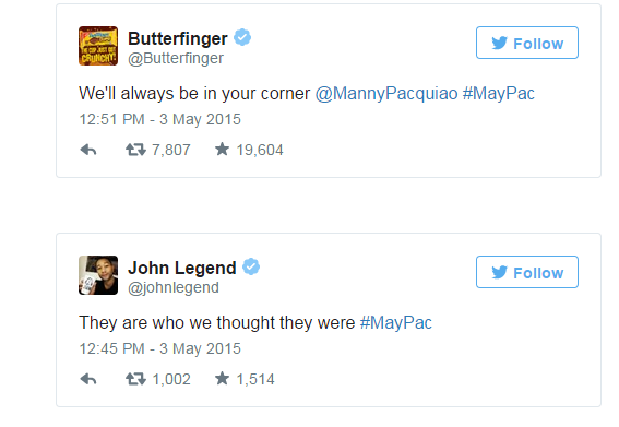 big celebrities on maypac fight