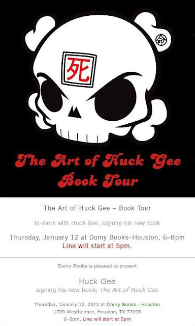 The Art of Huck Gee Book Tour Houston Tour Stop at Domy Books!