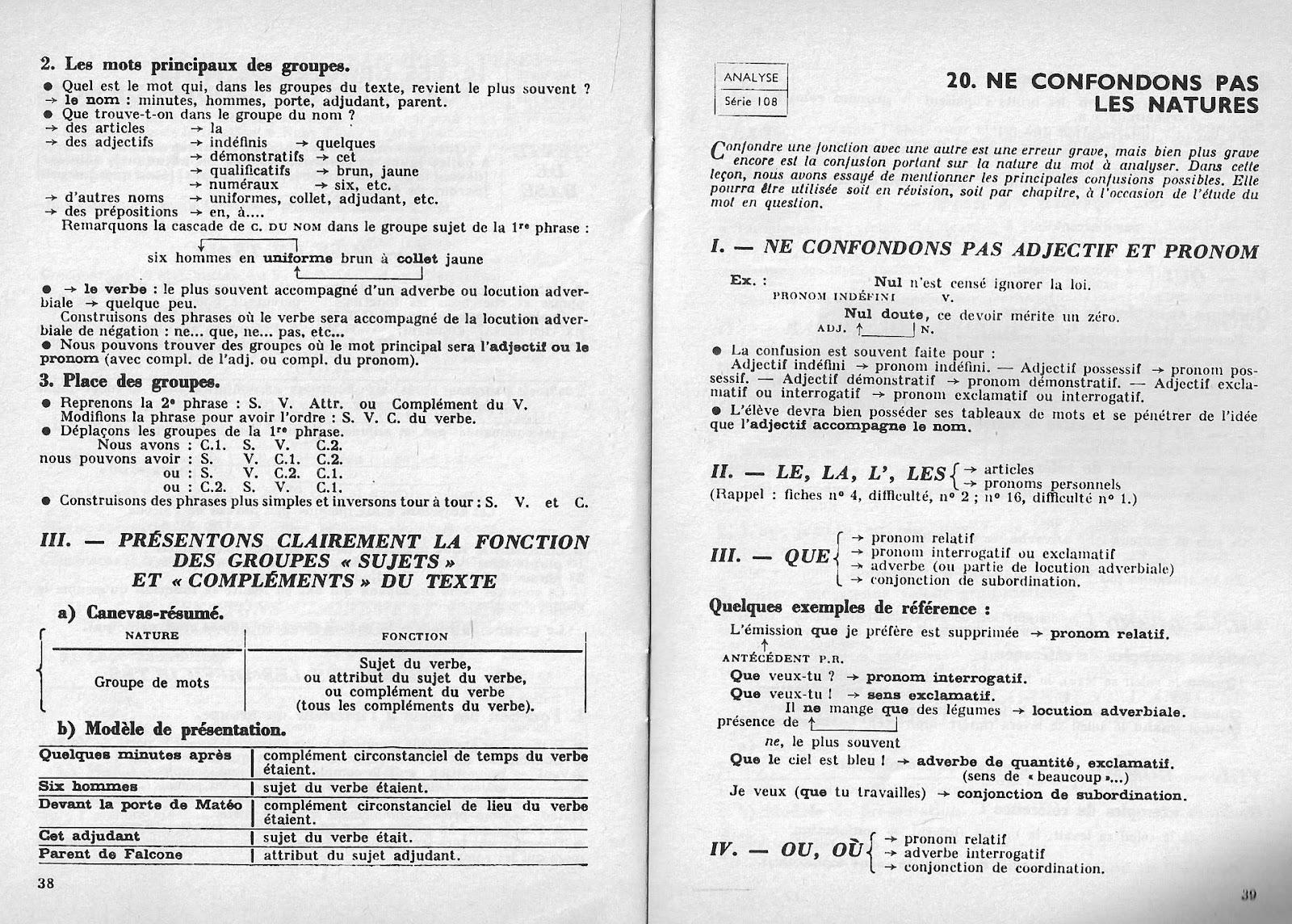 Manuels anciens: Tarnaud, Notions fondamentales d'analyse CM1, CM2, 6e, 5e (1964)