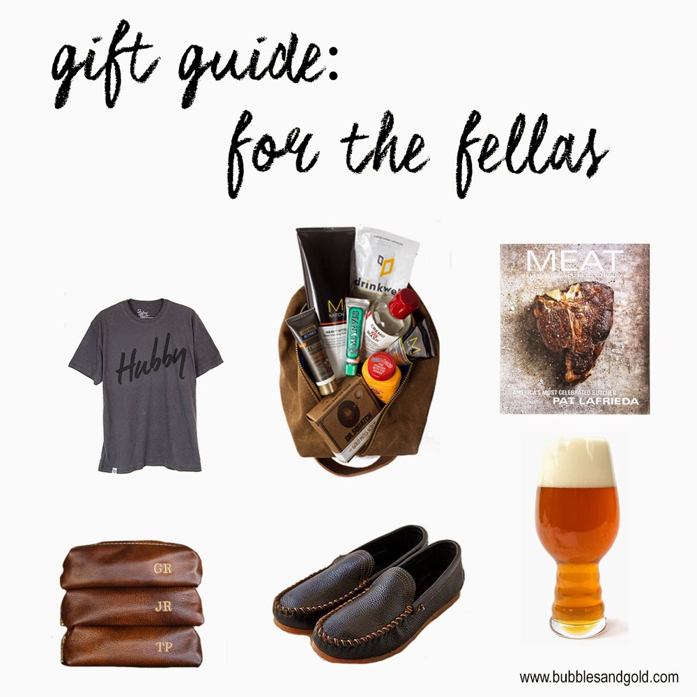 Gift Guide: For The Fellas | Top Men's Christmas Gifts | Bubbles and Gold