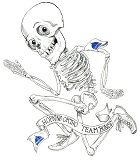 skeleton drawing for johns hopkins running