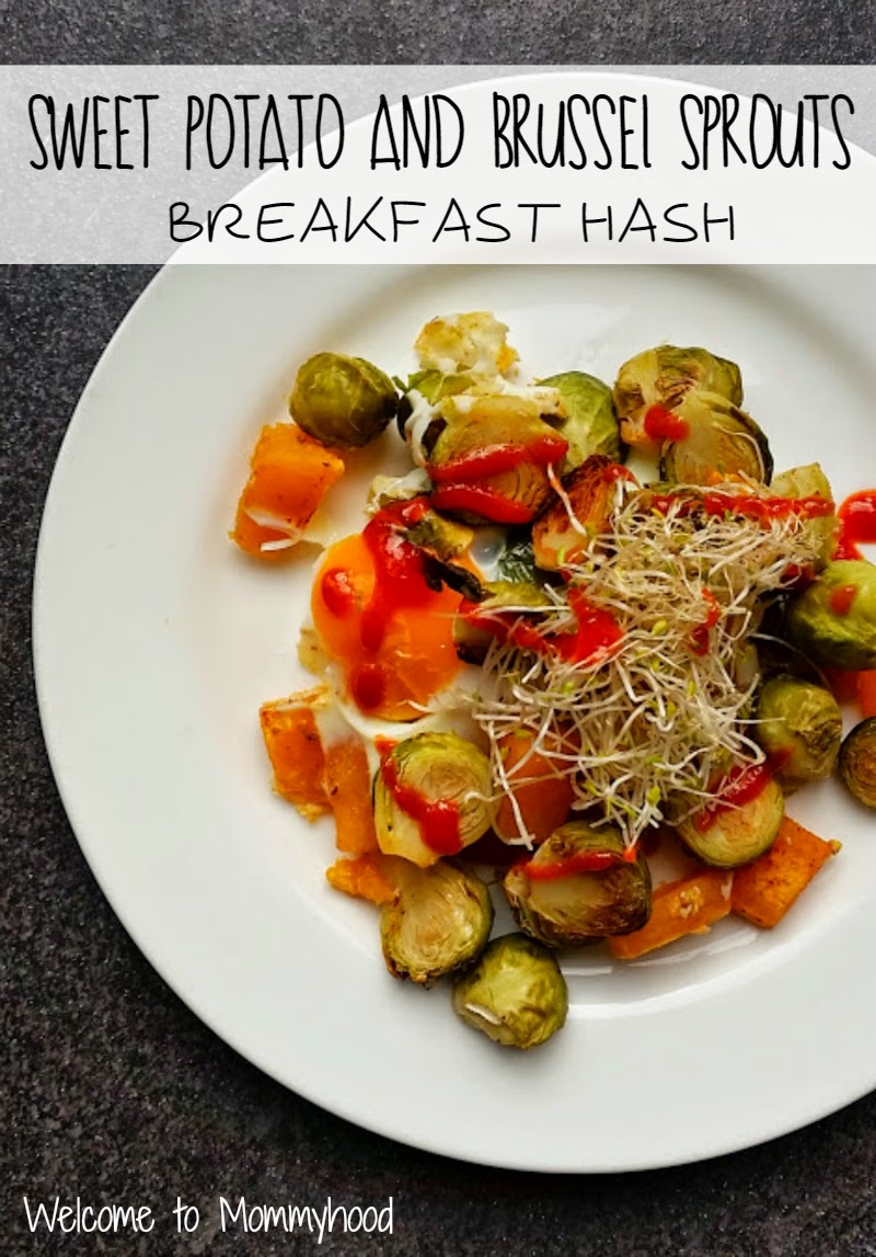 Sweet potato and brussel sprouts hash by Welcome to Mommyhood #paleo #paleorecipes