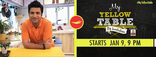 'My Yellow Table Season 2' Cooking Show on NDTV GoodTimes Plot Wiki,Celebrity,Timing,Promo