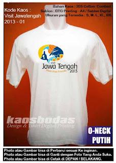 Kaos Visit Jawatengah 2013 - 01