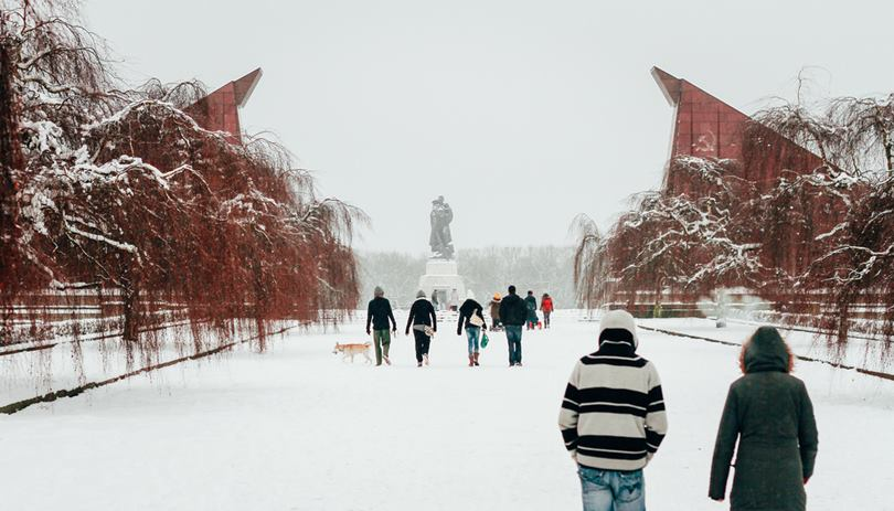 Soviet War Memorial in December. Soviet War Memorial in Treptower Park, Berlin