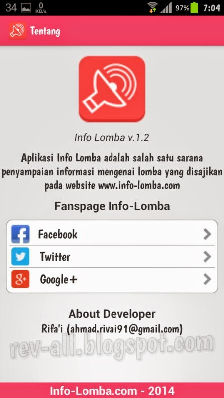 Tentang - aplikasi android Info Lomba - review oleh rev-all.blogspot.com