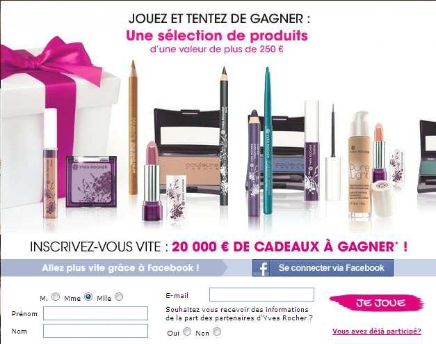 75 lots de 24 produits de maquillage Yves Rocher
