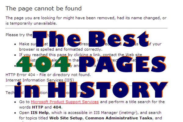 The best 404 pages in History front