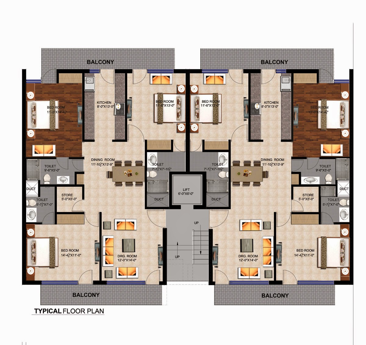 palm apartments floor plan