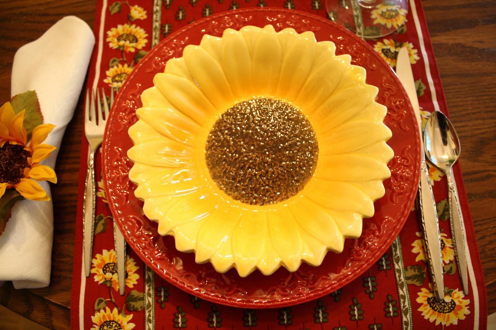 I Love My Dollar Store Sunflower Bowls.