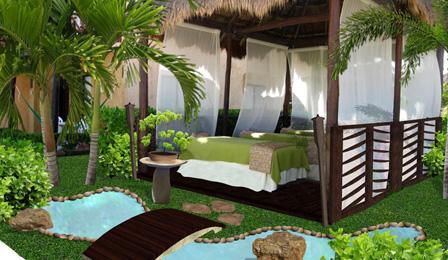jardin para area de spa en un hotel, diseño de jardines pequeños