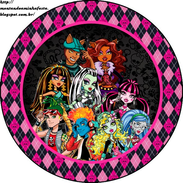 Toppers de Monster High para Imprimir Gratis.