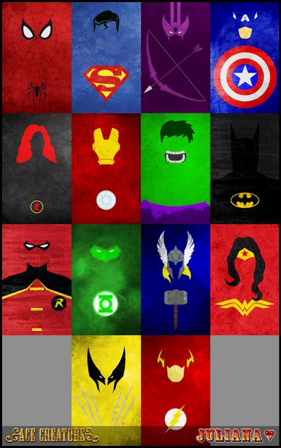 My Sims 3 Blog: Minimalist Superheroes Posters - by Juliana