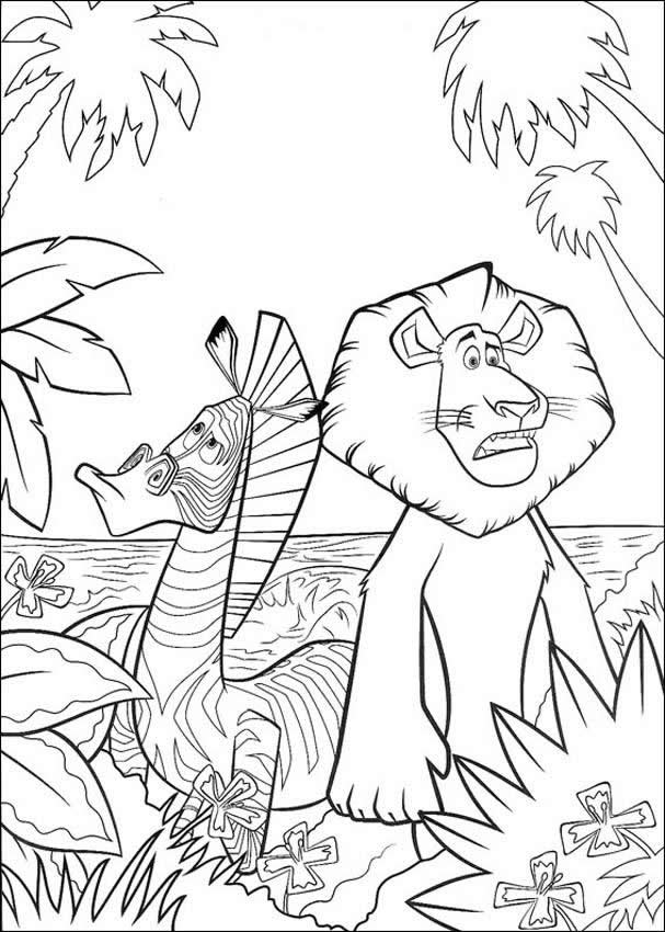 Madagascar 3 coloring pages Free