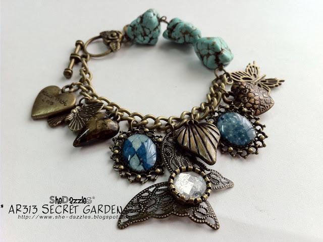 charm-bracelet-blue-butterfly