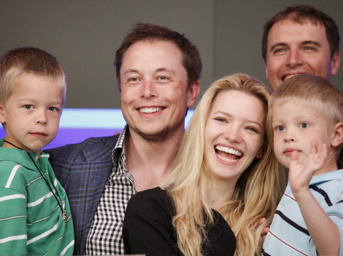 elon musk and his family