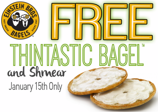 einstein bros bagel free thintastic bagel coupon