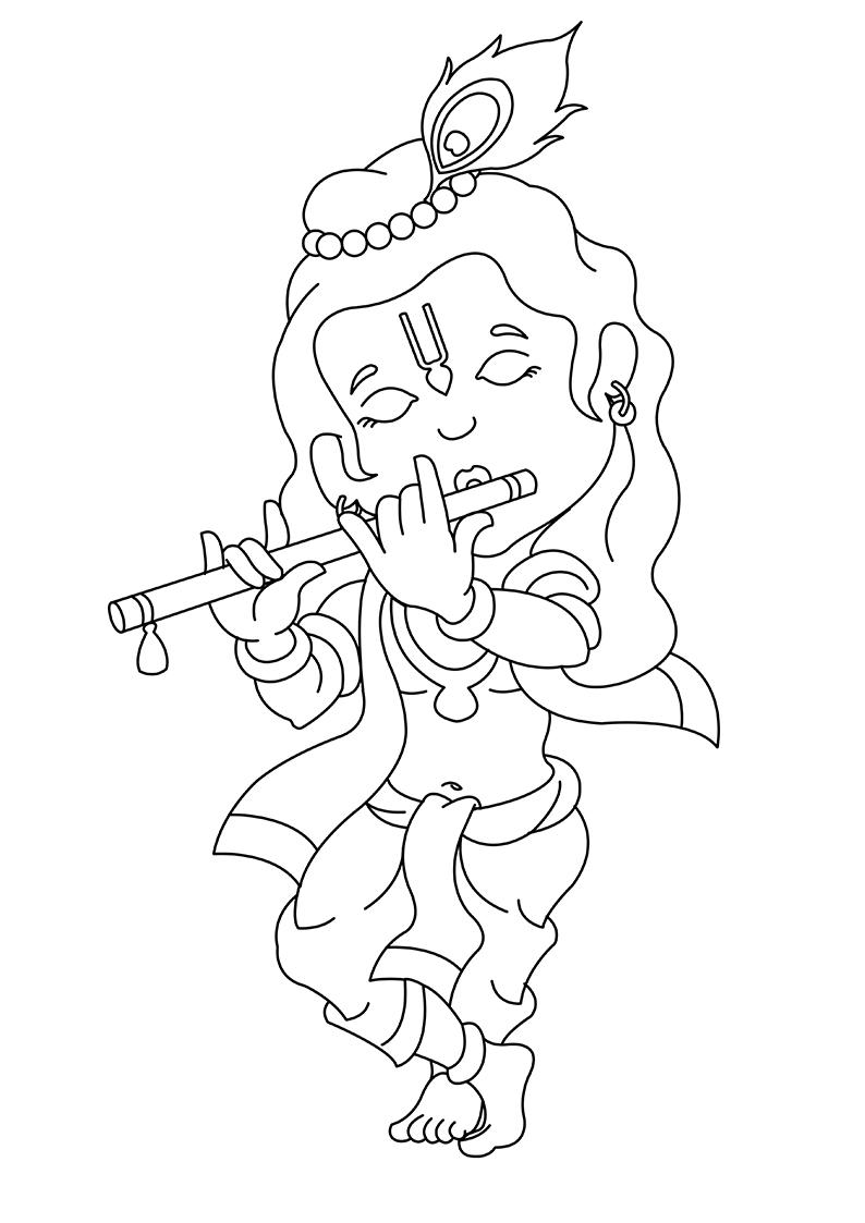 Line Drawing Krishna : Krishna line drawing related keywords