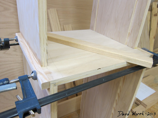 easy oak trim, angle cut
