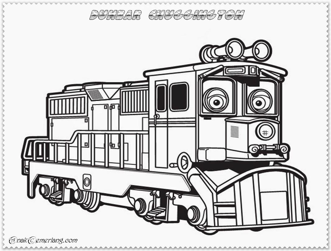 mewarnai gambar kereta api chuggington