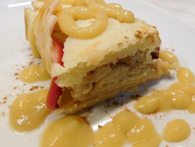 Apfelpfannkuchen, Blechpfannkuchen, Pfannkuchen vegan, Pfannkuchen Blech Vegan