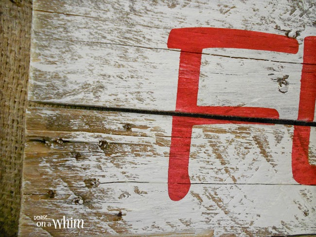 Painted Pallet Sign with original Wood Exposed on Edges