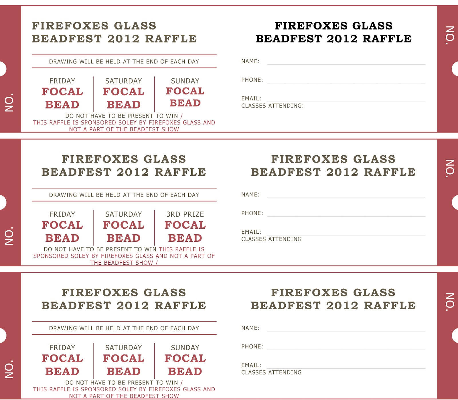 Raffle Tickets Samples Or Ideas http://www.firefoxesglass.com/2012_08_01_archive.html