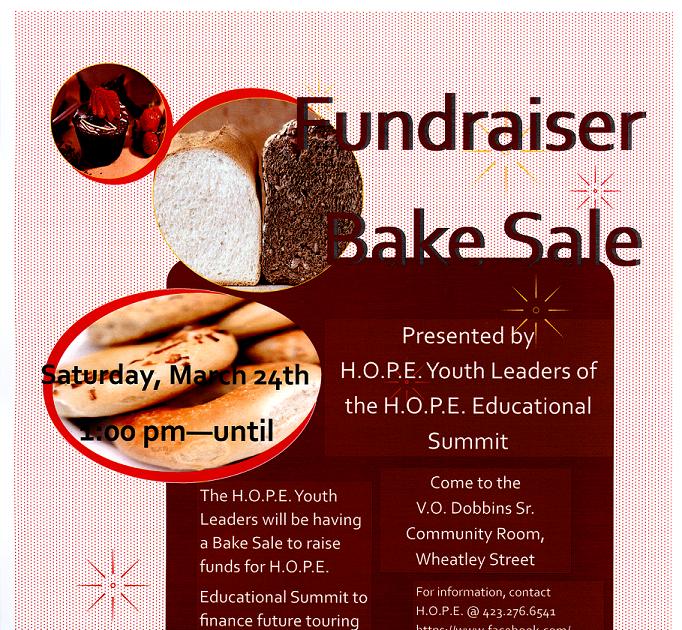 Jeff Flemings Kingsport Blog Mar 24 HOPE Bake Sale flyer – Bake Sale Flyer