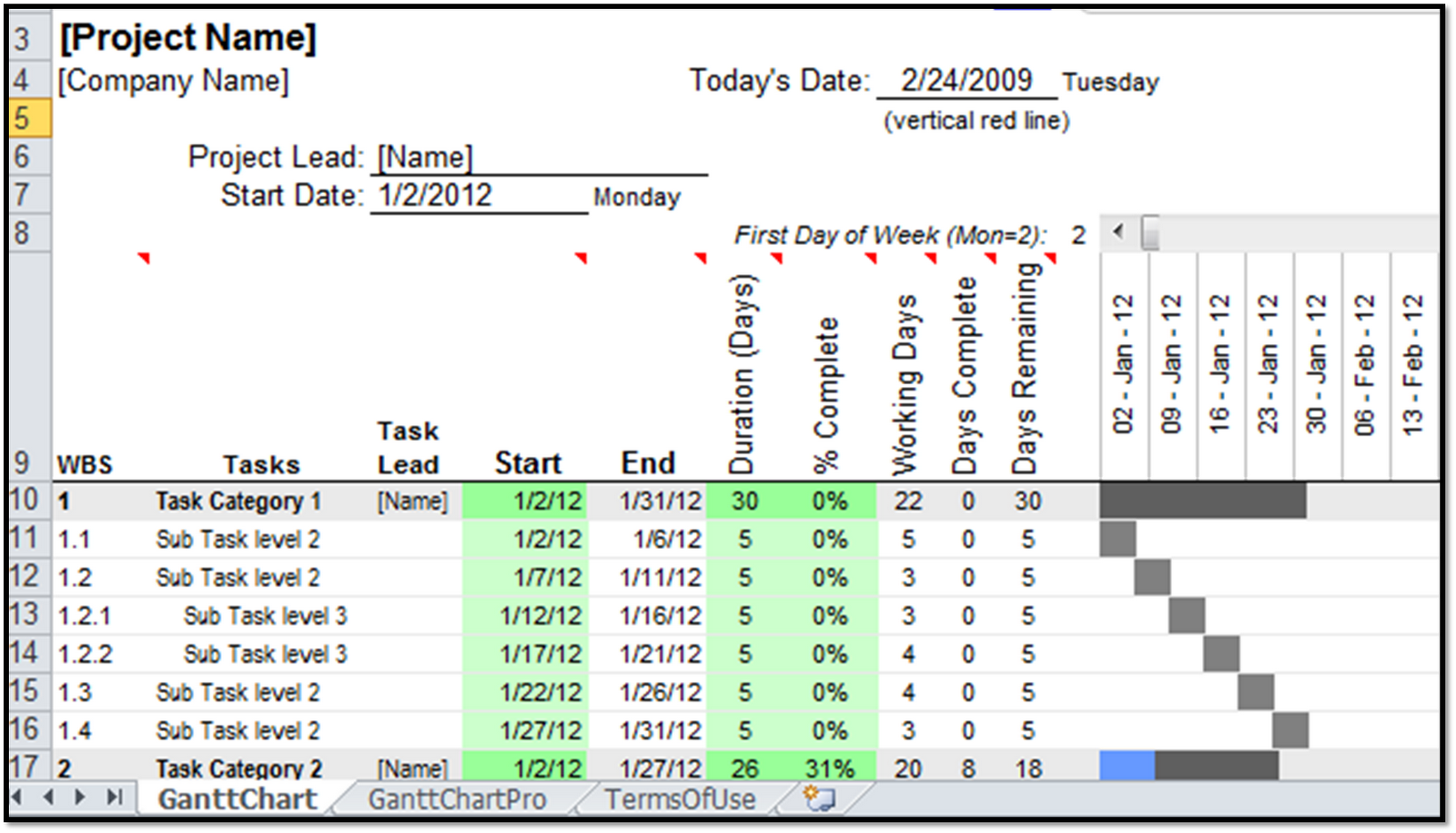 excel spreadsheets help gantt chart template pro giveaway contest