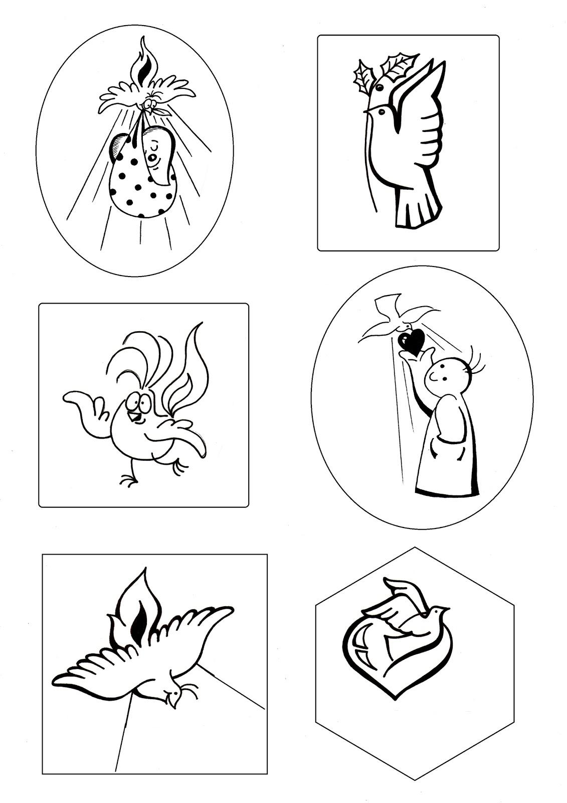 El Rincón de las Melli: Dibujos con el Espíritu Santo