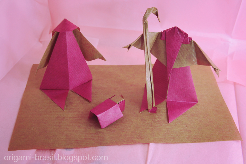 origami brasil origamis para a rvore de natal pres pios. Black Bedroom Furniture Sets. Home Design Ideas