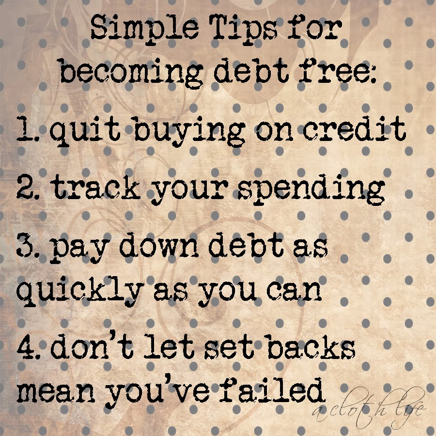 budgeting for financial security: simple tips for becoming debt free