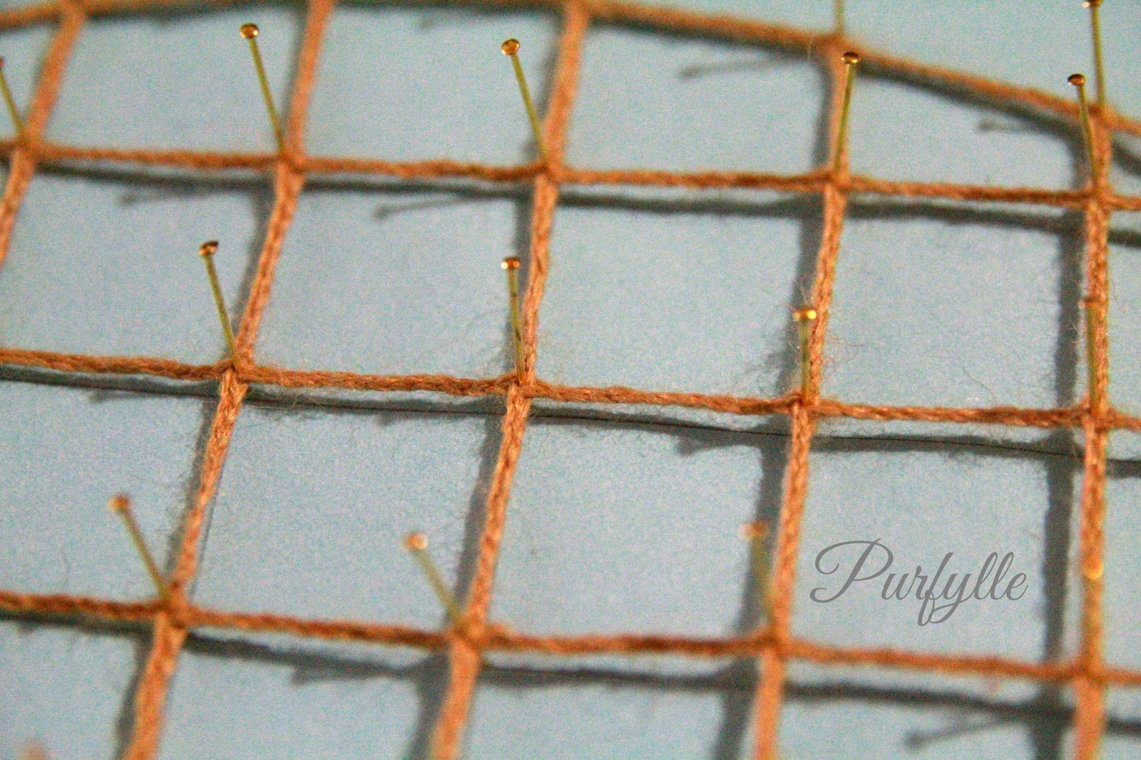 bobbin lace caul wool brass pins