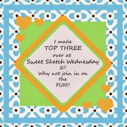 I made the Top 3 Sweet Sketch Wednesday 2