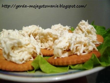 Сырная закуска на крекерах
