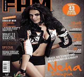 Neha Dhupia Cover FHM Feb 2013