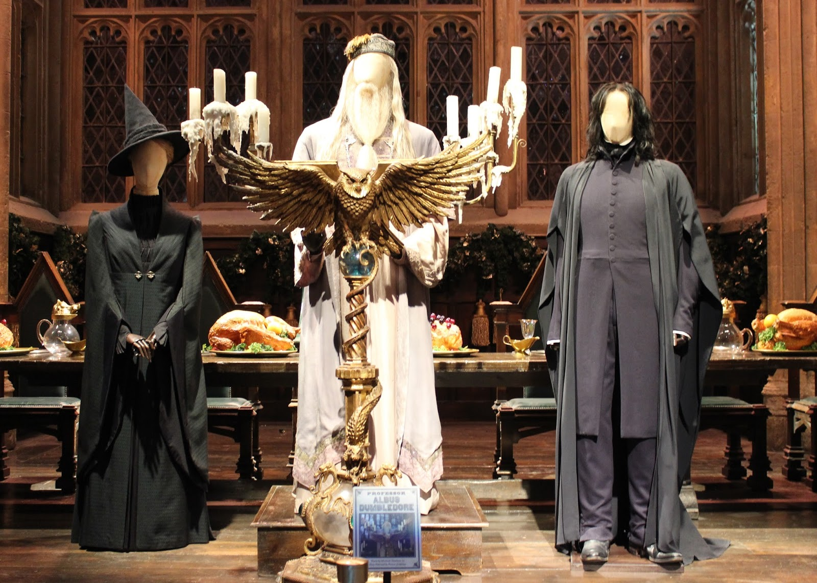 Harry Potter studio tour london great hall and costumes