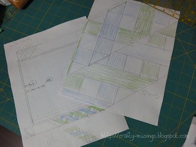 Zonnah's quilt design planning