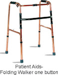 Patient Aids-Folding Walker one Button