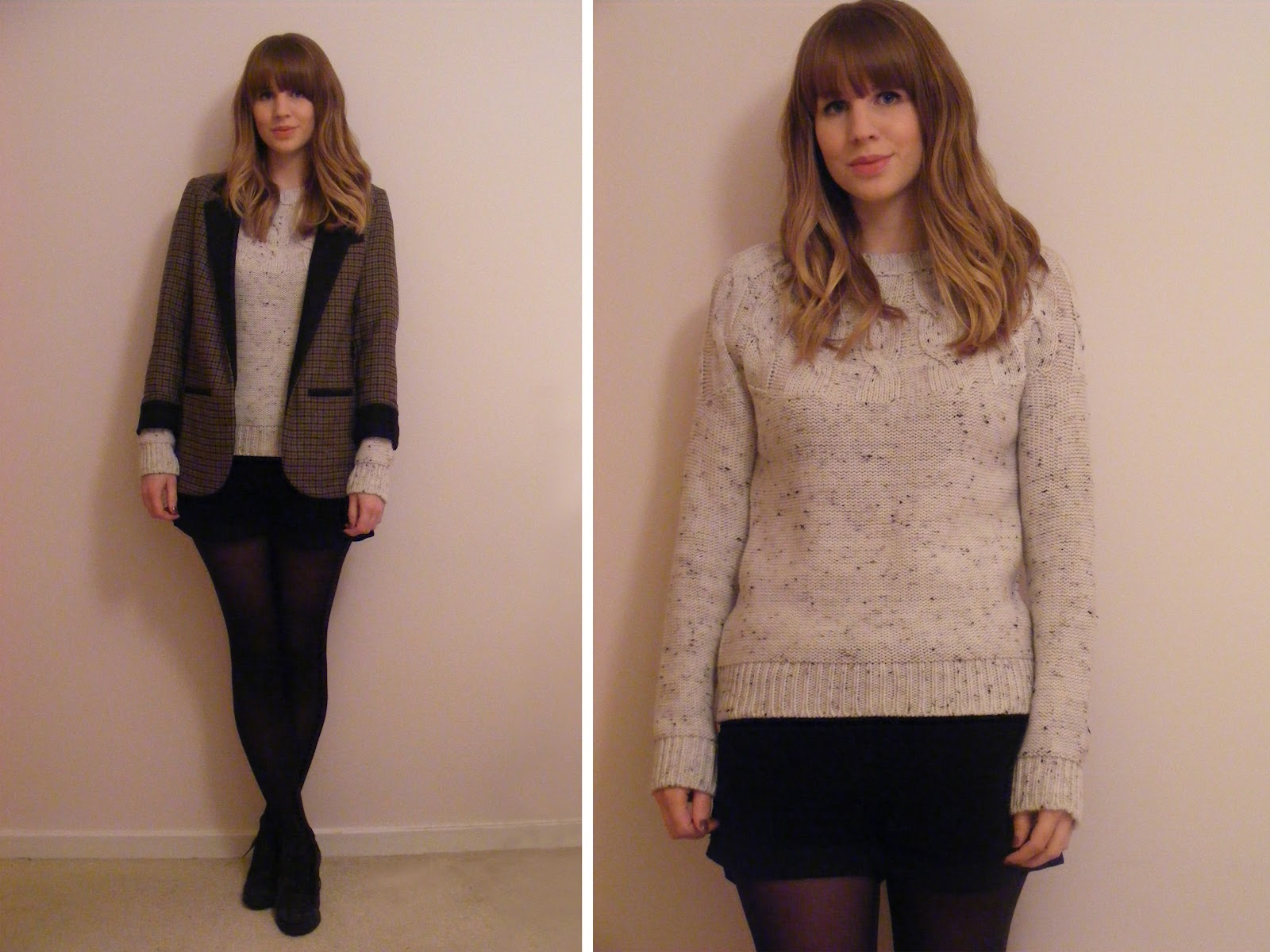 quite quaint topshop tweed blazer