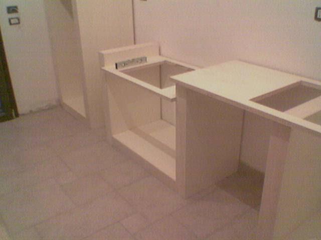 Fai da te hobby legno cucina in finta muratura - Costruire cucina in muratura ...