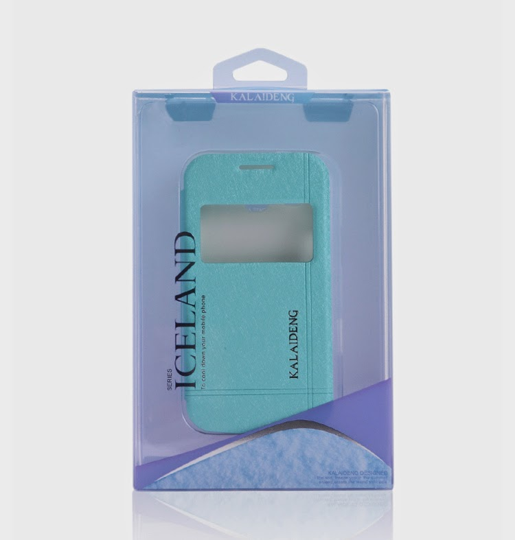 KLD Iceland II Series Window View Stand Leather Case Cover for Samsung Galaxy Grand Neo I9060 I9062 / Grand I9080 I9082 I9118 - Baby Blue