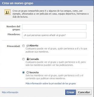 privacidad grupo facebook