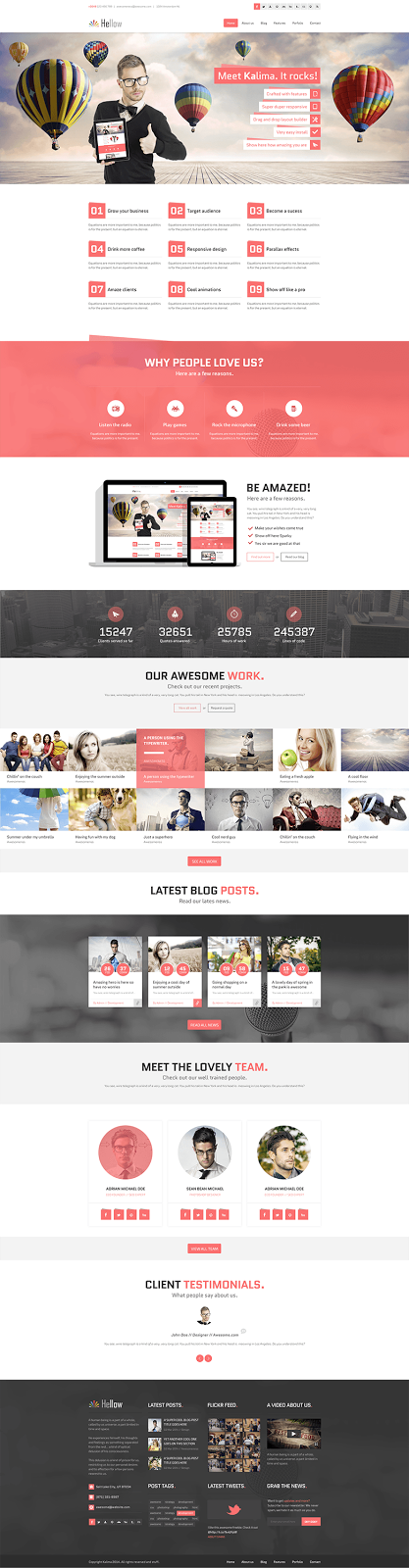 Hellow Website PSD Template