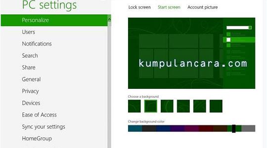 Cara Ubah Latar Belakang Gambar & Warna Pada Windows 8
