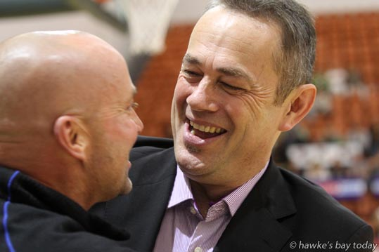 Right: Alf Arlidge, coach, Otago Nuggets, basketball vs Bay Hawks, at Pettigrew.Green Arena, Taradale, Napier photograph