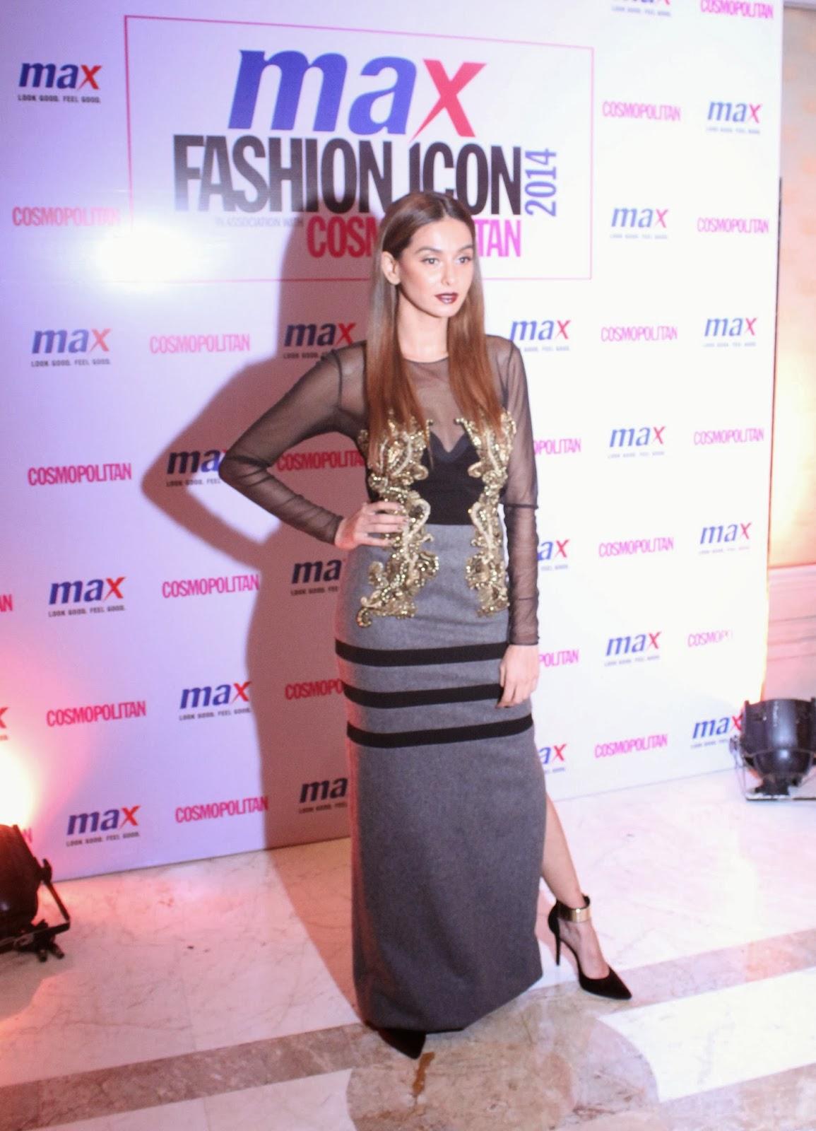 Shibanne Dandekar - MAX Fashion Icon 2014 In Collaboration  With Cosmopolitan Magazine Grand Finale - All Pictures, Uncut Version
