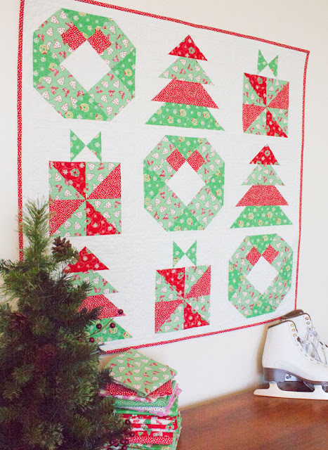 Quilt Pattern For Christmas Wreath : Fat Quarter Shop s Jolly Jabber: Little Joys Quilt Along Week 3: Wreath Block